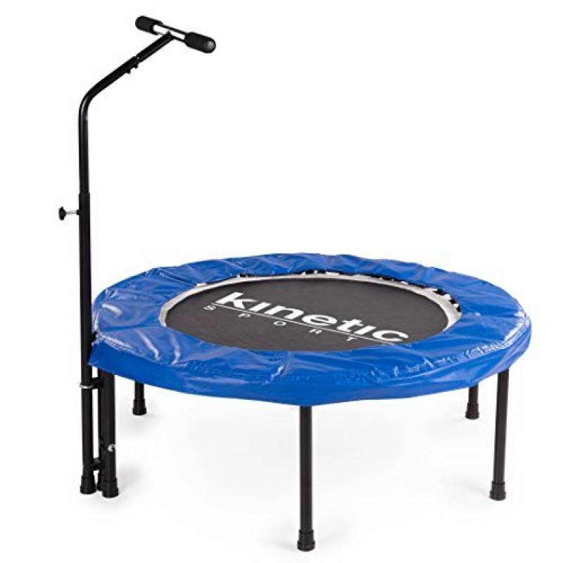 Kinetic Sports Indoor Fitness Trampoline Maison, Diamètre 100 cm, Poignée hauteur réglable 83-123 cm de la marque Kinetic Sports TOP 1 image 0 produit
