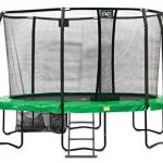 Trampoline Exit JumpArena Oval 244x380 Vert + Filet de Protection de la marque Exit TOP 7 image 0 produit