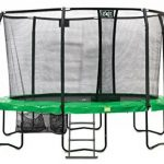 Trampoline Exit JumpArena Oval 305x427 Vert + Filet de Protection de la marque Exit TOP 4 image 0 produit
